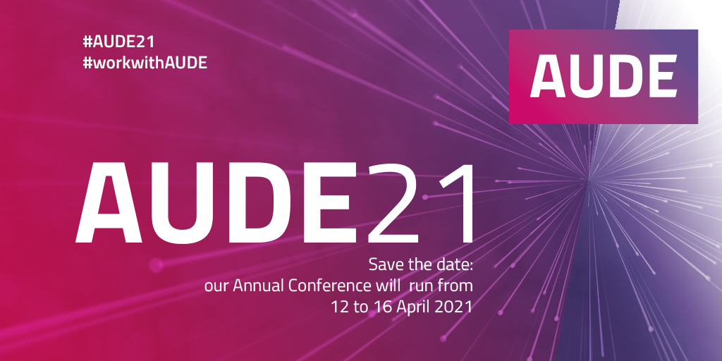 Save the date - AUDE Conference 2021