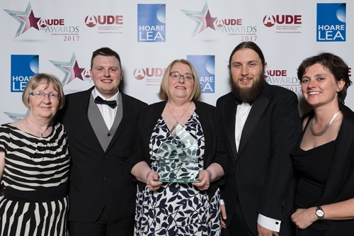 AUDE Estates/Facilities Team of the Year Award was presented to the Manchester Metropolitan University, Estates and Facilities