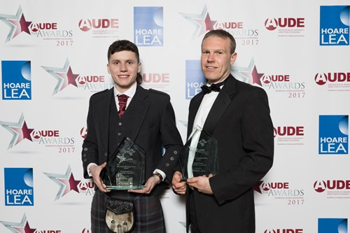 AUDE Emerging Talent Award went to joint winners, Grant McGillivray, University of Glasgow and Stewart Crowe, University of Liverpool.