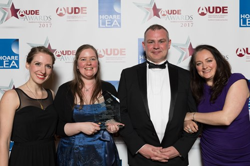 AUDE University Impact Initiative of the Year Award went to The University of Manchester,
