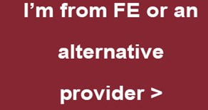 I'm from FE or an alternative provider